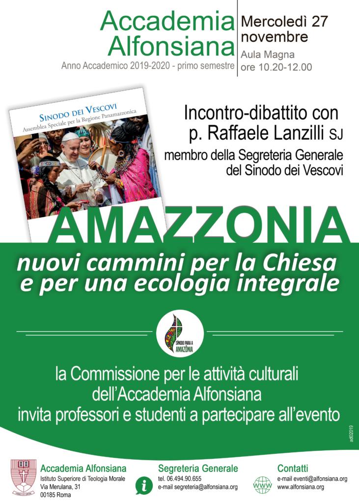 Amazzonia. Nuovi cammini per la Chiesa e per una ecologia integrale @ Accademia Alfonsiana Aula magna