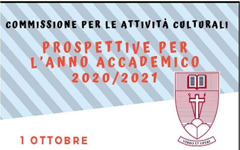 Eventi: Prospettive per l'anno accademico 2020-2021