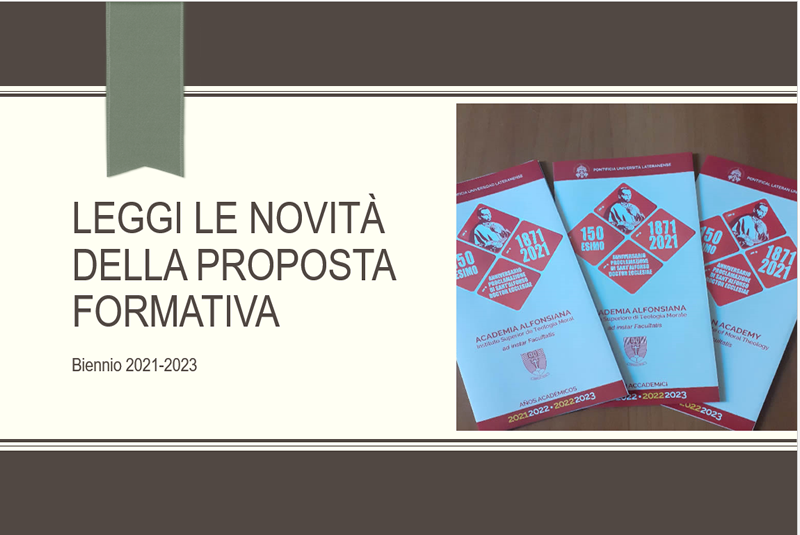 Novità nella proposta formativa del biennio 2021-2023