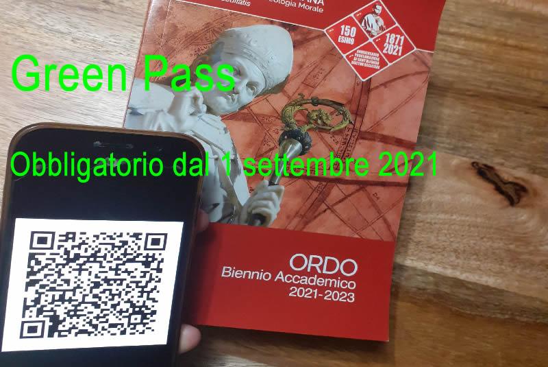 Green Pass: obbligatorio dal 1° settembre 2021 per accedere all'Accademia