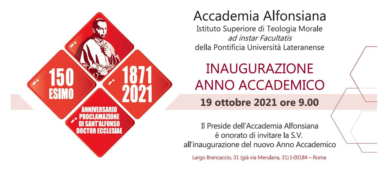 Solenne Inaugurazione dell'anno academico @ Accademia Alfonsiana